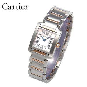 Cartier(カルティエ) タンクフランセーズ K18PGコンビ ブレスウォッチ W51027Q4 - 拡大画像