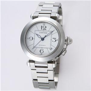 Cartier (カルティエ) ユニセックスウォッチ W31074M7 パシャC ホワイト - 拡大画像