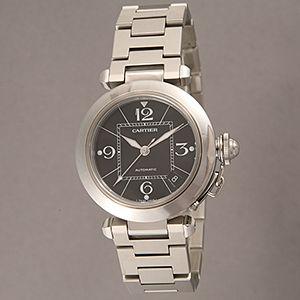 Cartier (カルティエ) ユニセックスウォッチ W31076M7 パシャC ブラック - 拡大画像