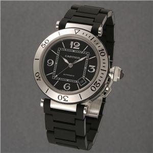 Cartier (カルティエ) ユニセックスウォッチ W31077U2 パシャ シータイマー ブラック SSラバー - 拡大画像