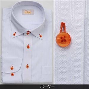 Falchi NewYork メンズ襟ワイドドレスシャツ F-D2W-OR ボーダー(#11) L 41-84 - 拡大画像