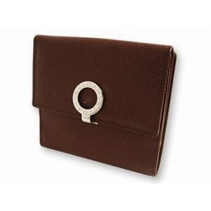 ブルガリ 23272 財布 Wホック2つ折り 財布 ブラウン - 拡大画像