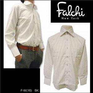 Falchi NewYork(ファルチ ニューヨーク) メンズドレスシャツ F-W-BK #16(ブラック ドット) Mサイズ(39-84) - 拡大画像