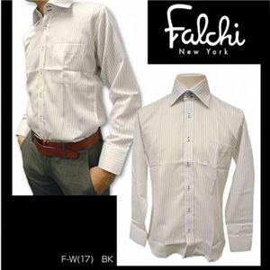 Falchi NewYork(ファルチ ニューヨーク) メンズドレスシャツ F-W-BK #17(ブラック ストライプ) Lサイズ(41-86) - 拡大画像