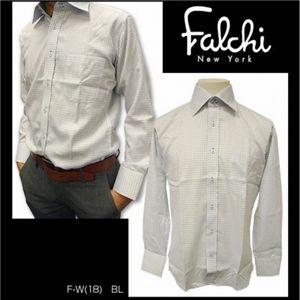 Falchi NewYork(ファルチ ニューヨーク) メンズドレスシャツ F-W-S.BL #18(スカイブルー) LLサイズ(43-86) - 拡大画像