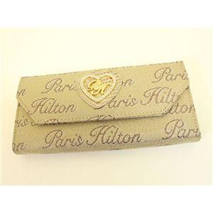 PARIS HILTON パリスヒルトン 3ッ折り財布 WADE0513 DesireLine ゴールド×ブロンズ - 拡大画像
