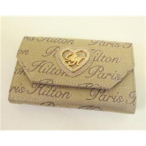 PARIS HILTON パリスヒルトン 3ッ折り財布 WACA0413 DesireLine ゴールド×ブロンズ - 拡大画像