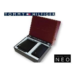 TOMMY HILFIGER トミーヒルフィガー 4494BK 2つ折 財布 名刺入れ セット  - 拡大画像
