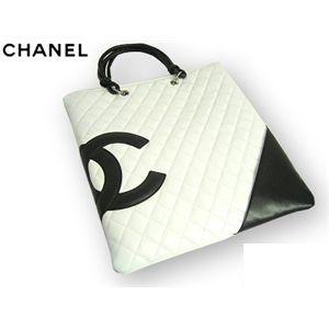CHANEL(シャネル) A28126 WH/BK カンボンライン バッグ - 拡大画像