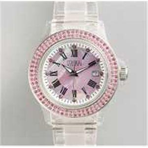 HEB milano(へブ ミラノ) 腕時計 28000ALLS00003 j basic swarovski pink - 拡大画像