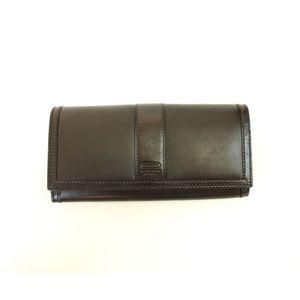 COACH(コーチ)レザー 40812 SV/BK スリムエンベロープウォレット 長財布 ブラック  - 拡大画像