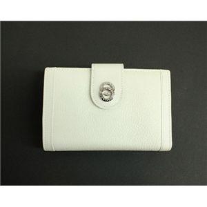 BVLGARI ブルガリ 25250 DOPPIOTONDO ドッピオトンド Wホック 二つ折り財布 ホワイト - 拡大画像