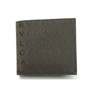 BVLGARI ブルガリ 22625 2つ折り財布 小銭入れ付き ダークブラウン - 拡大画像