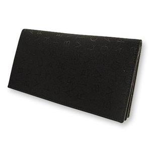 BVLGARI ブルガリ 22630 2つ折り長財布 小銭入れナシ ブラック×レッド - 拡大画像