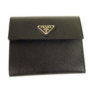 PRADA (プラダ) 三つ折り財布 M0170-SAFFIANO-ORO-NERO - 拡大画像