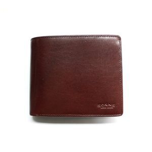 SONNE(ゾンネ)2つ折り小銭入付財布 レザー SOC012N/LEATHER/CHO チョコレート - 拡大画像