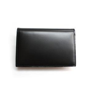 SONNE(ゾンネ)名刺入れ カードケース コードバン SOC008/BLK ブラック - 拡大画像
