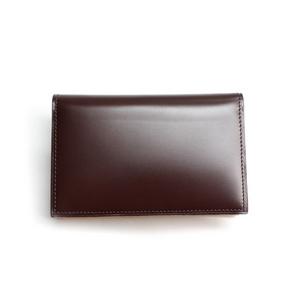 SONNE(ゾンネ)名刺入れ カードケース コードバン SOC008/CHO チョコレート - 拡大画像