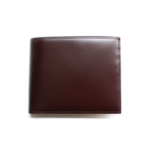 SONNE(ゾンネ)2つ折り小銭入付財布 コードバン SOC002/CHO チョコレート - 拡大画像