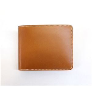 SONNE(ゾンネ)2つ折り財布 ブライドルレザー SOW010/CAM キャメル - 拡大画像