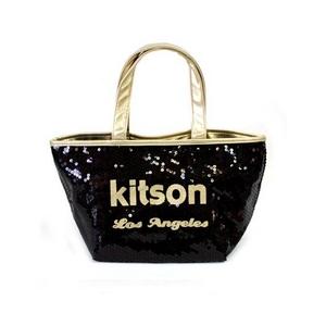 KITSON(キットソン) ミニスパンコール トートバッグ 3563 ブラック/ゴールド - 拡大画像