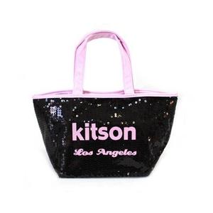 KITSON(キットソン) ミニスパンコール トートバッグ 3562 ブラック/ピンク - 拡大画像