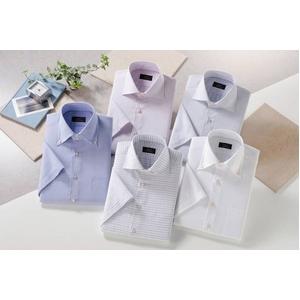 ドゥエボットーニシャツ5枚組 サイズ3L 半袖ワイシャツ 50169 - 拡大画像