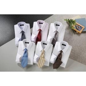 銀座・丸の内のOL100人が選んだ 半袖ワイシャツ&ネクタイセット 50211 シャツサイズ 3L ワイシャツ6枚 ネクタイ8本 セット  - 拡大画像