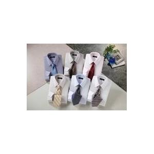 銀座・丸の内のOL100人が選んだ ワイシャツ&ネクタイセット 50210 シャツサイズ LL ワイシャツ6枚 ネクタイ8本 セット - 拡大画像