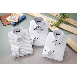 ドレスシャツ3枚組 抗菌・防臭加工ワイシャツ ホワイト 50220 サイズ L - 拡大画像