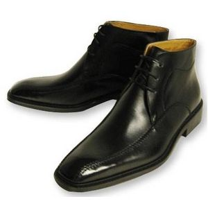 Falchi New York(ファルチ ニューヨーク) 紳士靴 ショートブーツ FN-008 ブラック 25.5 - 拡大画像