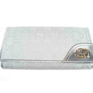 Gucci(グッチ) 181595 FI07G 8101 シルバー 3つ折り 長財布 - 拡大画像