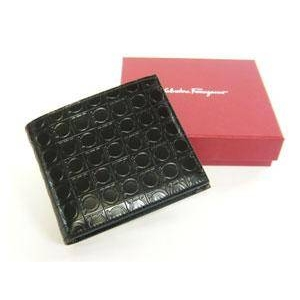 Salvatore Ferragamo(サルヴァトーレ フェラガモ) 66-3555 BLACK メンズ 財布 (コインケース付き) - 拡大画像