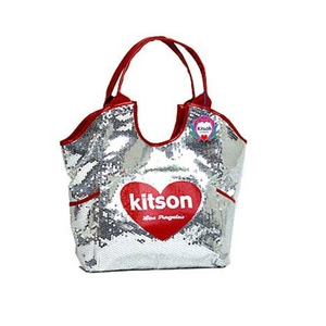 KITSON(キットソン) スパンコール トートバッグ SEQUIN TOTE 3607 SILVER HEART(シルバーハート) 2009新作 - 拡大画像