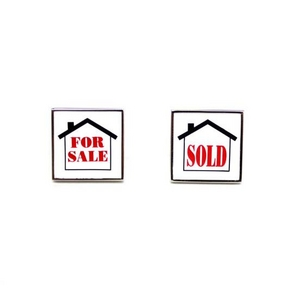 Cuffs(カフスボタン) カフリンクス FOR SALE SOLD Real Estate Cufflinks for Realtors 2009新作 - 拡大画像