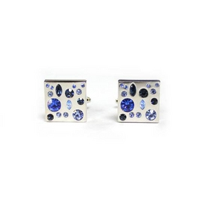 Cuffs(カフスボタン) カフリンクス ブルークリスタル Stunning blue Crystal Cufflinks 2009新作 - 拡大画像
