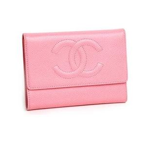 CHANEL(シャネル) A13225 三つ折り 財布 ピンク - 拡大画像
