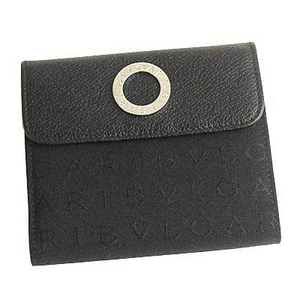 Bvlgari(ブルガリ) 25127LETTERE レターレダブルホック財布ブラック×シルバー - 拡大画像