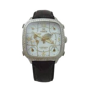 MODEX(モデックス) 5continents G-5GLD-002-BK Full diamond スイス製 ダイヤモンド メンズ腕時計 - 拡大画像