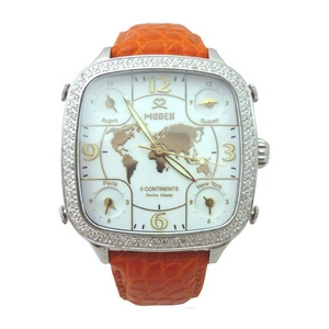 MODEX(モデックス) 5continents G-5GLD-002-OR Top ring スイス製 ダイヤモンド メンズ腕時計 - 拡大画像
