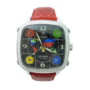 MODEX(モデックス) 5continents G-5COL-002-RD Top ring スイス製 ダイヤモンド メンズ腕時計 - 拡大画像