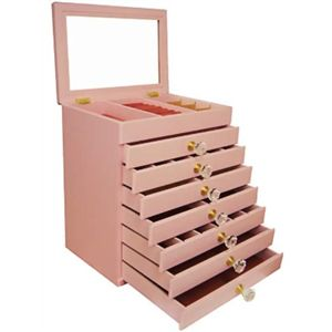 エレガントジュエリーボックス 8段タイプ ピンク - 拡大画像