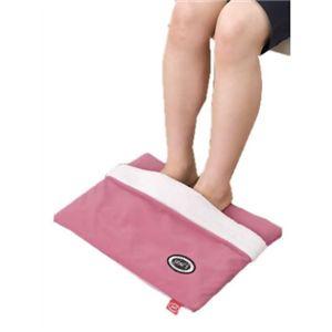 電気いらずのぬくぬくレッグマット 足袋タイプ ピンク - 拡大画像