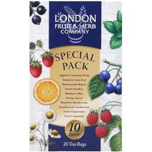 (まとめ買い)ロンドンフルーツ&ハーブティー 10種類スペシャルパック 20TB×4セット - 拡大画像