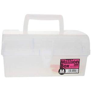 (まとめ買い)明邦ミリオンBox M 透明×3セット - 拡大画像