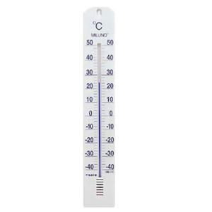 (お徳用 2セット) 大型寒暖計ミルノ ホワイト ×2セット - 拡大画像