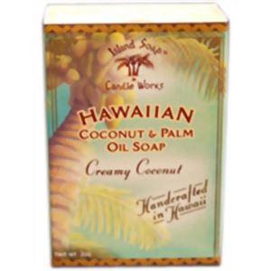 (まとめ買い)ハワイアン ハンドメイドココナッツソープ ココナッツ×6セット - 拡大画像