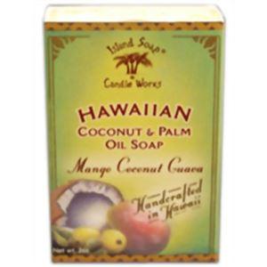 (お徳用 4セット) ハワイアン ハンドメイドココナッツソープ マンゴー・ココナッツ・グァバ ×4セット - 拡大画像