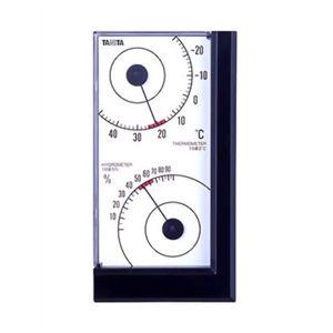 タニタ 温湿度計 TT-537-BK ブラック 【2セット】 - 拡大画像