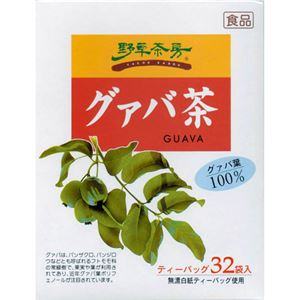 (お徳用 2セット) 野草茶房 グァバ茶 ティーバッグ 2g ×32包 ×2セット - 拡大画像